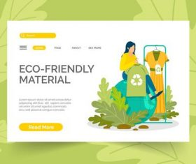 Clothing donation landing page illustration vector