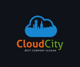Cloud city logo design vector