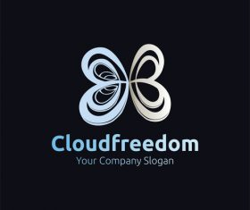Cloud freedom design vector