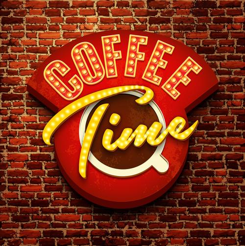 Coffee shop creative billboard vector