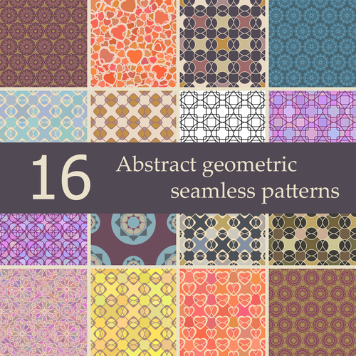 Collection of abstract geometric patterns vector