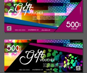 Collection of gift cards voucher vector