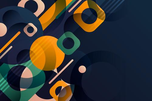 Color abstract design geometric background shape vector