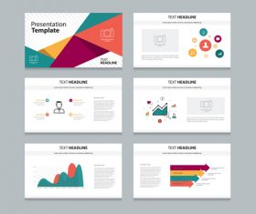 Color business chart information vector