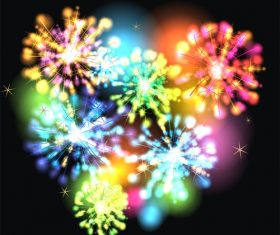 Color firework pattern vector