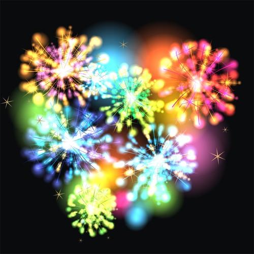 Color firework pattern vector