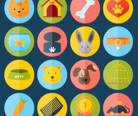 Color flat animal icon vector