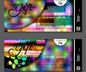Color gift card vector