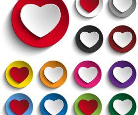 Color heart icon vector