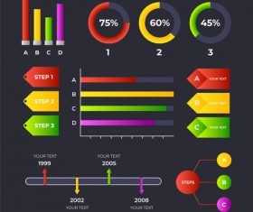 Color infographic vector