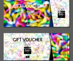 Color silk thread background gift card voucher vector