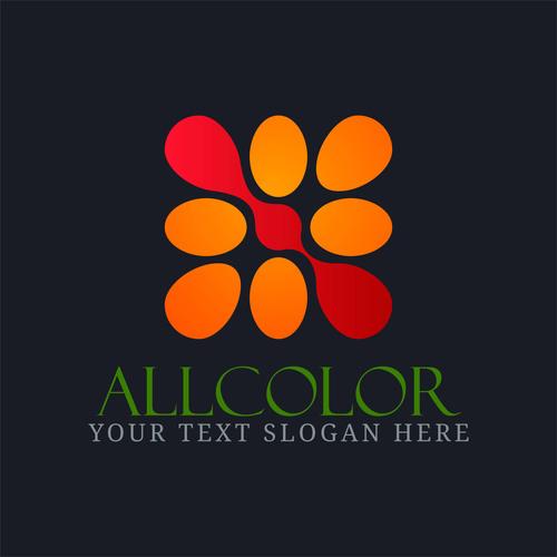 Colorful allcolor logo design vector