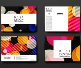 Colorful background brochure design vector