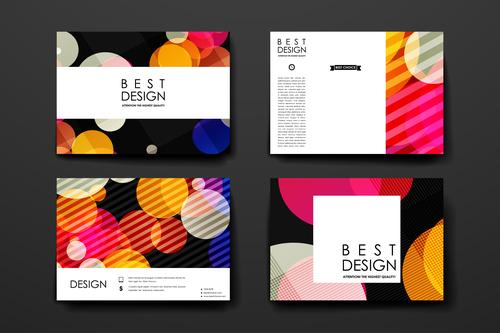 Colorful background brochure design vector