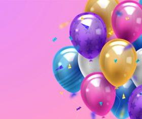Colorful balloon vector