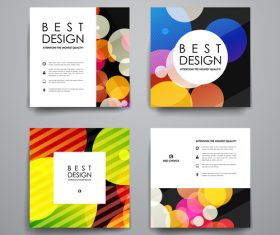 Colorful cover brochure design vector