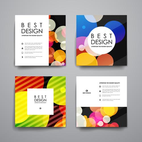 Colorful cover brochure design vector