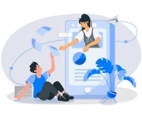 Communication chat concept illustration vector