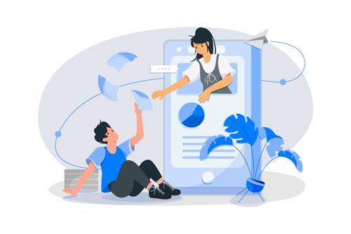Communication chat concept illustration vector