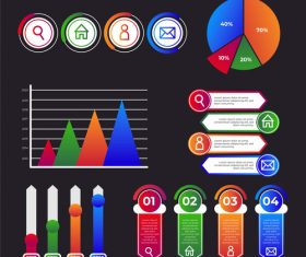 Company performance infographic vector