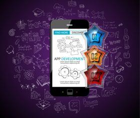 Concept app application design vector