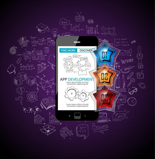 Concept app application design vector