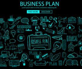 Concept business plan sketch information vector