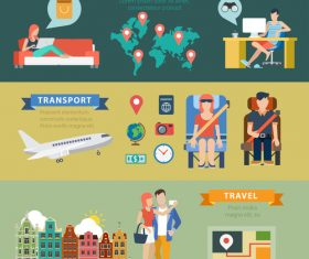 Concept flat travel vector