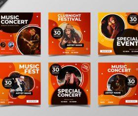 Concert poster design vector
