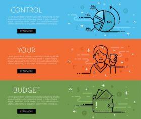 Control budget vector web banner set