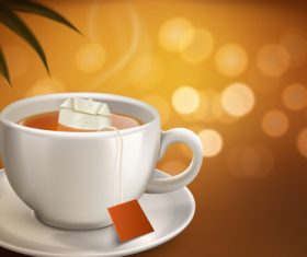 Convenient to brew black tea advertising vector