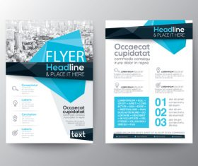 Corporate templates of brochures vector
