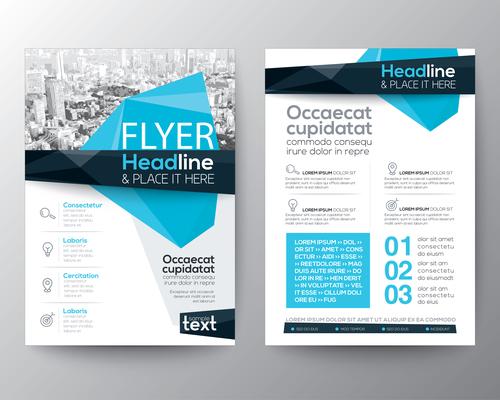 Corporate templates of brochures vector