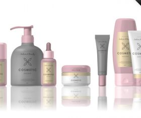 Cosmetic packaging mockup vector