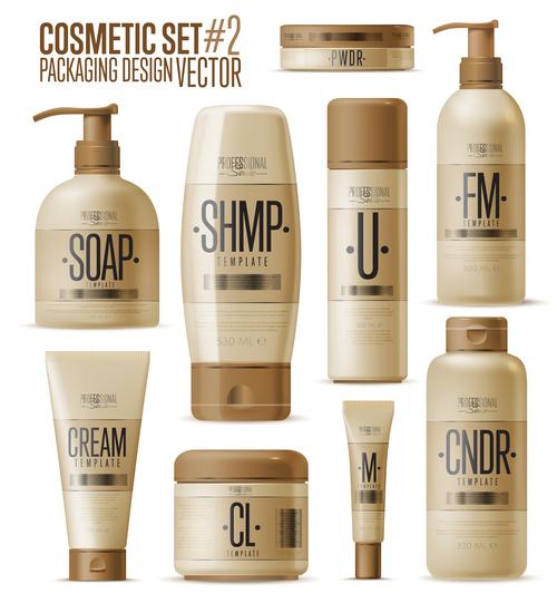Cosmetics set advertising vector