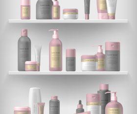 Cosmetics vector on shelf