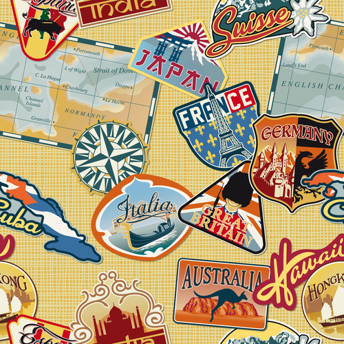 Country label vector