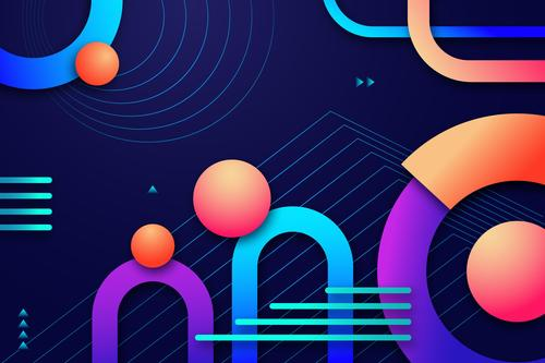 Creative abstract design geometric background shape vector