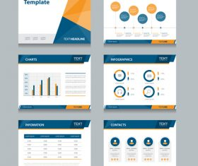 Creative business chart information vector