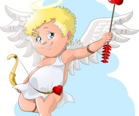 Cute cupid cartoon icon vector