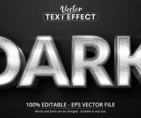 DARK 3d editable text style effect vector