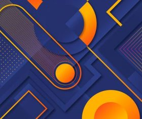 Dark blue and yellow abstract design geometric background shape vector