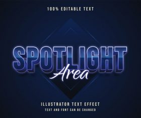 Dark blue editable font effect text vector