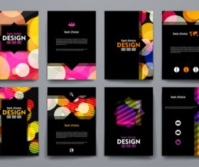 Dark cover brochure design vector