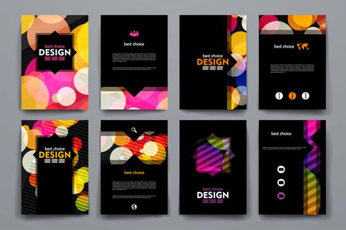 Dark cover brochure design vector