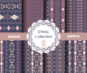 Dark ethnic collection seamless pattern vector