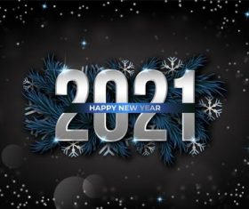 Dark new year 2021 background vector