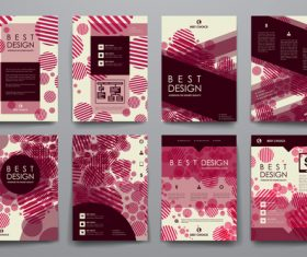 Dark red background brochure design vector