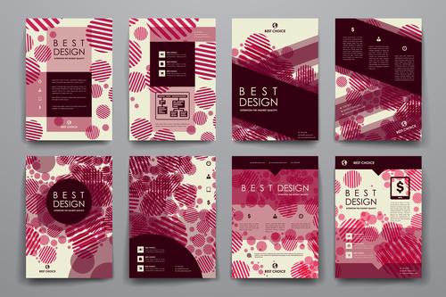 Dark red background brochure design vector
