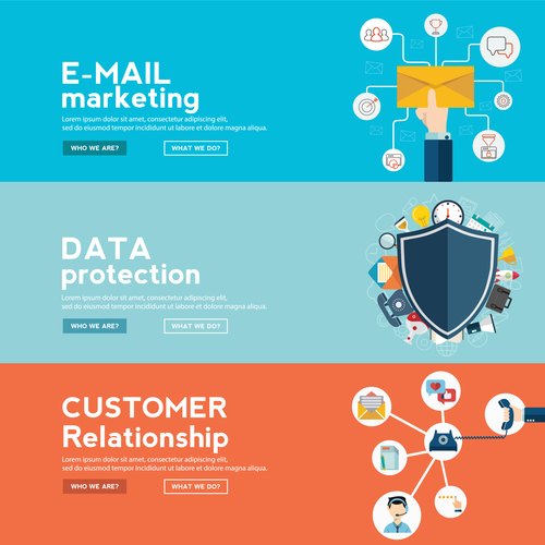 Data protection information banner vector